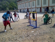 2014_04_16 Successful visit to Haiti over. Thanks to @tennisfactory for donating the equipment @itf_tennis @Paralympic